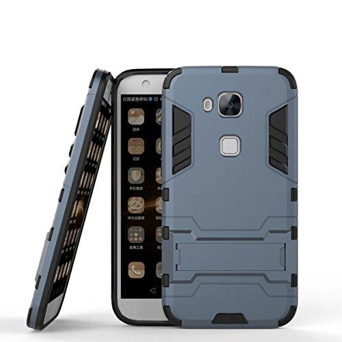 CHcase Huawei G8 Hülle,Huawei GX8 Hülle,Huawei G7 Plus Hülle, Shockproof Rüstung Hybrid 2 In1 TPU & PC Robuste Dual Layer mit Kickstand Case für Huawei G7 Plus/G8/GX8 -Black