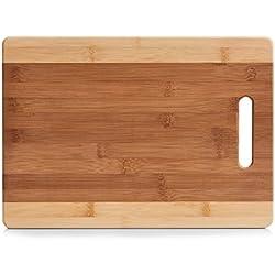 Zeller–Tabla de Cortar, bambú, bambú, Naturaleza, 38 x 27 x 0,95 cm