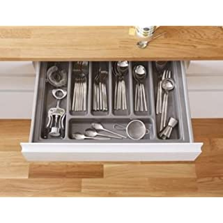 HIGH Quality Plastic Cutlery Tray for Kitchen Drawers Various Sizes/Formations (Dimensions: 420mm x 515mm)