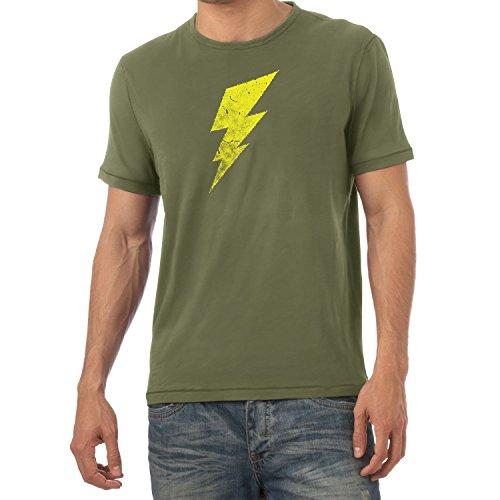Flash - Herren T-Shirt, Größe XL, Oliv (The Big Bang Theory Superhelden Kostüme)