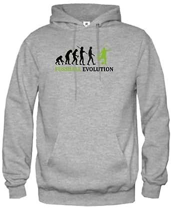 FUSSBALL EVOLUTION – HERREN UND DAMEN – HOODIE by Jayess Gr. S bis XXXL