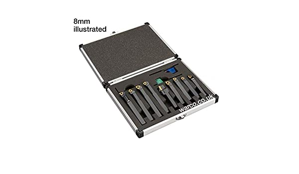 10mm /& 12mm 8mm 9 Piece Set Available in Sizes Indexable Lathe Tools 10mm
