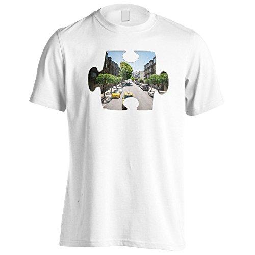 Puzzle moderno immagine della città immagine Uomo T-shirt e888m White