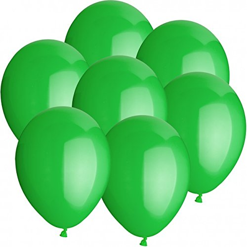 50 Luftballons Ø 25 cm Farbe frei wählbar Ballons Helium Luftballon (Grün)