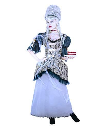 Horror-Shop Marie Antoinette Barock Geister Kostüm-Kleid für Halloween L