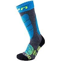 UYN Ski Junior Socken 2020 Medium Grey Melange/Turqoise