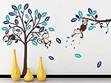 WallStickersDecal® Sticker mural Jungle singe dans un arbre - Best Reviews Guide