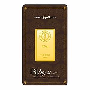 IBJA Gold 24k (999) 20 gm Yellow Gold Bar