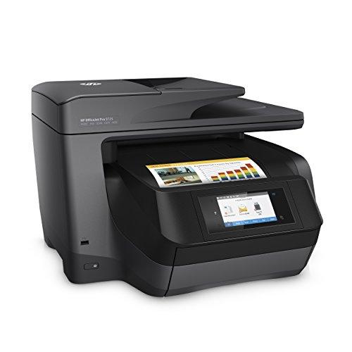 HP OfficeJet Pro 8725 - Impresora multifunción (Tinta Color, 1200 x 1200 PPP, A4, Incluido 3 Meses de HP Instant Ink) Color Negro