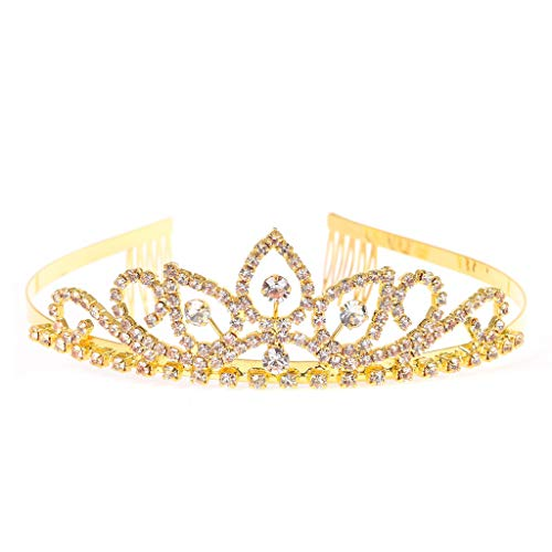 Einfache Kostüm Für Teens - RIVERTREE Gold Kostüm Prinzessin Crown Stirnband