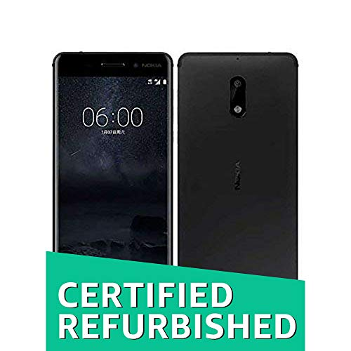 (CERTIFIED REFURBISHED) Nokia 6 (Matte Black ,64GB) (4 GB RAM)