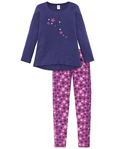 Schiesser Mädchen Zweiteiliger Schlafanzug Anzug Lang Blau (Navy 815), 176 (Herrliche Jersey Gerippte)