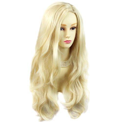 Perruque Belle et Sexy Dégradé Blond Clair Longue et Ondulée Contact Peau