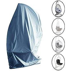 Laxllent Housse de Protection pour œufs Chaise,Imperméable Housse Meuble Couverture avec Fermeture à Glissière, 216x185cm, Gris (210D Oxford Polyester PU Revêtement)