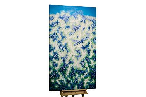 KunstLoft® XXL Gemälde 'Energie in uns' 120x180cm | original handgemalte Bilder | Abstrakt Blau Muster XXL | Leinwand-Bild Ölgemälde einteilig groß | Modernes Kunst Ölbild
