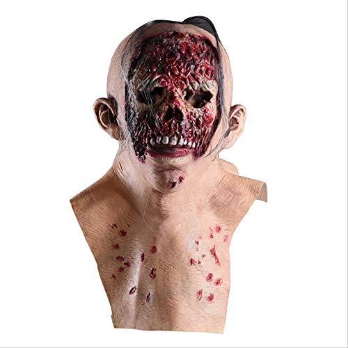 detrasp Latex-Maske Halloween Maske Geschenke Für Men/Women/mädchen Seltsames Spielzeug Halloween Maske Zombie Scary Latex Maske Resident Evil Terror Vampire Headgear Tanten Bad Face (Scary Halloween-masken Für Mädchen)