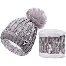 QS Go Conjunto de Sombrero de Punto de Mujer Sombrero de Punto de Mujer  Sombreros de Moda d703f8b8852