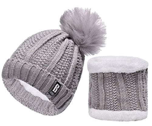 QS Go Conjunto de Sombrero de Punto de Mujer Sombrero de Punto de Mujer  Sombreros de Moda 02d610cd960