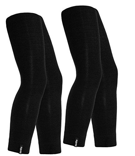 Ewers 2er Pack Mädchenleggings Sparpack Leggings Markenleggings Freizeithose einfarbig Kinder (EW-94212-S17-MA6-988-988-134/146) in Schwarz-Schwarz, Größe 134/146 inkl. EveryKid-Fashionguide (2-pack Mädchen Kleider)