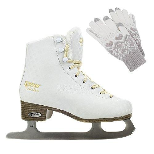 Tempish Damen Giulia Profi-Eiskunstlaufschlittschuhe Weiß, White, 39