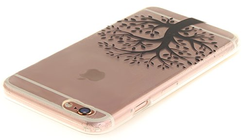 Nnopbeclik Silikon Transparent Hülle Für Apple Iphone 6 / 6S, Ultra Slim Weich TPU Cover Case Neu Design Super Durchsichtig Hohl Luxus Bling Blume Case Etui, Schutzhülle Muster Glänzend Glitzer Strass #2