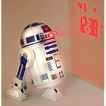 Star Wars - Despertador con proyector y sonidos (plástico), diseño de R2-D2