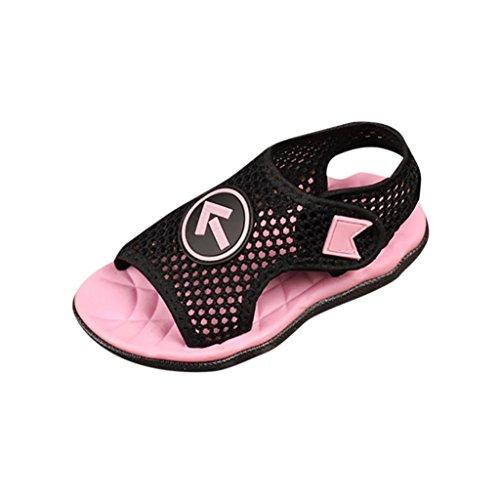 QinMM Kinder Kind Schuhe, Infant Jungen Mädchen Weiche Mesh Sandalen Strand Meer Slipper Casual Unisex Sommer Schuhe Grün Rot Rosa 21-30 (21, Rosa)