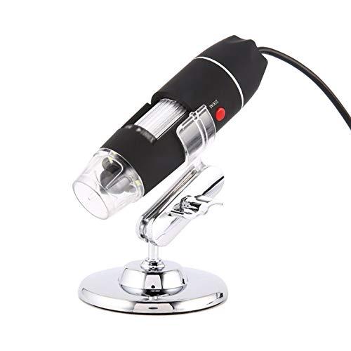 Ballylelly-8 LED-Digitalmikroskop Drei in einer USB-Endoskopkamera Microscopio 1600X Stereo-Lupe Plug & Play von