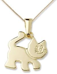 Miore Kinder-Halskette Kätzchen 750 Gelbgold 45 cm