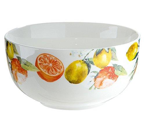 Gilde Saladier/Bol Porcelaine avec oranges et citrons décor Fresh Fruit ca. 500 ml