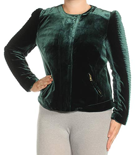 INC International Concepts Women's Velvet Moto Jacket
