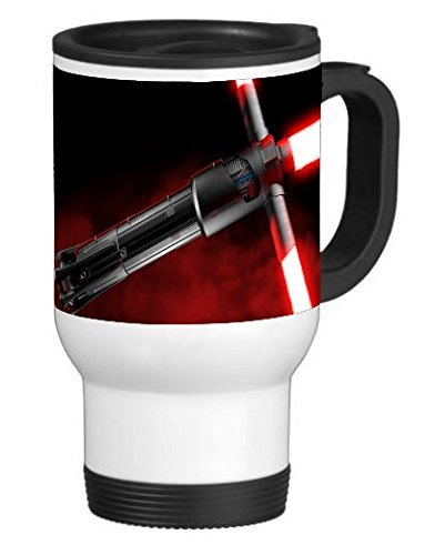 Red Blade 14 ounce Stainless Travel Mug(Tazzine da caffè) by Demon Decal