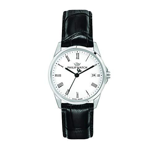 Philip Watch Orologio da donna, Collezione Capetown, con movimento al quarzo e funzione solo tempo con data, in acciaio e cuoio - R8251212501