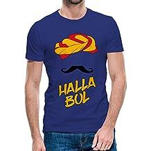 The Localduty Halla BOL Rajasthan Royals IPL Collection Royal Blue Cotton Round Neck Half Sleeve Tshirt