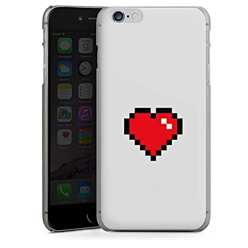Apple iPhone X Silikon Hülle Case Schutzhülle 8-Bit Heart Herz Liebe Hard Case anthrazit-klar