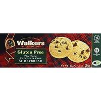 Walkers Shortbread Postre con Chips de Chocolate sin Gluten - 4 Paquetes de 1 x 140