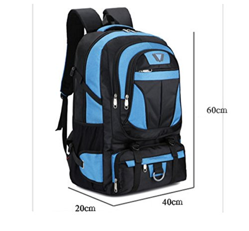 Nylon Umhängetasche Urlaubsreisen Rucksack Im Freien Bergsteigen Sackt Paket Reiten red