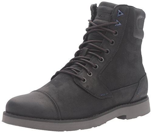 Teva Herren Durban Tall-Leather Biker Boots, Schwarz (Black/Dark Shadow-Bdsdblack/Dark Shadow-Bdsd), 43 (Tall Herren Schwarz Boots)