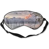 Schlafmaske, Palmen auf Dominikanischem Strand, verstellbare Augenmasken preisvergleich bei billige-tabletten.eu
