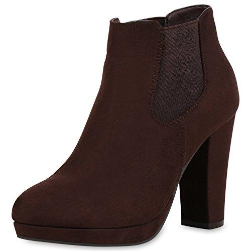 Japado , bottines classiques femme marron foncé