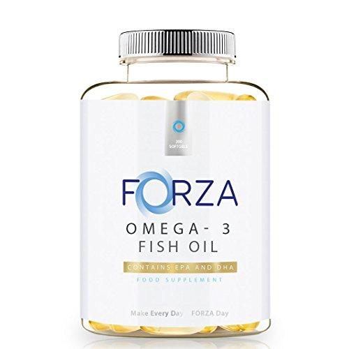 Wesentlicher Schutz Für Die Haut (FORZA Omega-3 Fischöl - Hochdosiert 1000mg - EPA & DHA - Unterstützt Gehirn & Herz - 200 Weichkapseln)