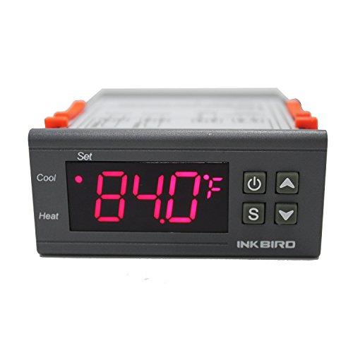 Inkbird ITC-2000 230V Digitale Temperatur Regler Regelheizer 2 Relais, 1 Heizen oder Kühlen,1 Alarm Ausgang, für Wasserpumpen,Heizungen,Beleuchtung,Brutzubehör
