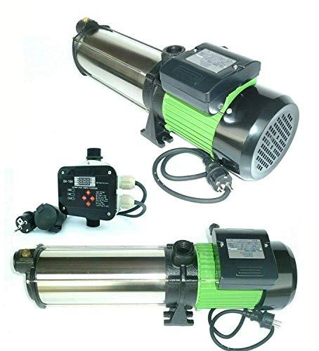 !!Top!! INOX Gartenpumpe Kreiselpumpe HMC10S 2200 Watt Förderhöhe: 110 m Max. Druck: 11 bar Max. Fördermenge: 6600 L/h - 110 L/min. + Steuerung CH20 bis 2200 Watt inkl. Trockenlaufschutz.