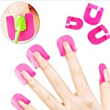Charites 10 Taille Nail resuable Pochoirs polonais Kit Nail Gel Nails Moisissures Bord barrière cutanée Maincure Outil Rose