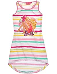 Barbie Mädchen Kleid in 3 Farben weiß gestreift 104