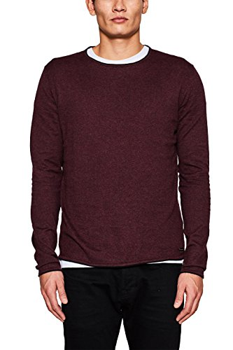 edc by ESPRIT Herren Pullover 117CC2I022, Rot (Bordeaux Red 600), Medium