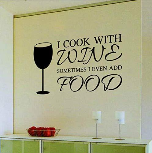 (Wiwhy Neue Rotwein Glas Fliesen Küche Condiment Herd Kühlschrank Aufkleber Aufkleber Wasserdichte Wand Sticker58X35 Cm)
