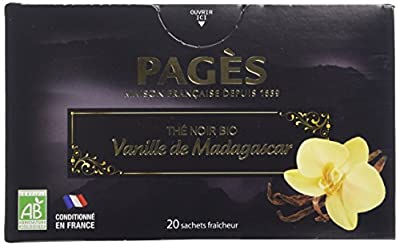 Pagès Thé Noir Vanille Bio 20 sachets - Lot de 2