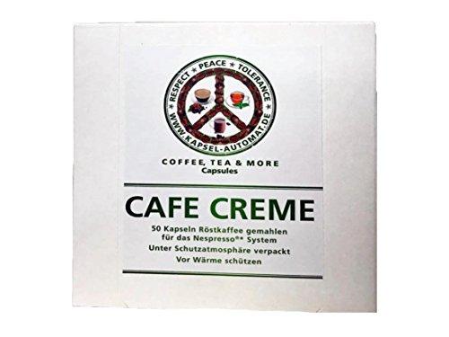 50 Kaffeekapseln Nespresso kompatibel von Coffee, Tea & more (Cafe Creme)