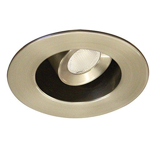 Trim-einbauleuchte (WAC HWAC Beleuchtung hr-led231r-40-wt ledme Miniatur Runde Einbauleuchte Aufgabe Licht, Aluminium, gebürsteter nickel, 40° Adjustable Round 4.00 watts 120.00 volts)